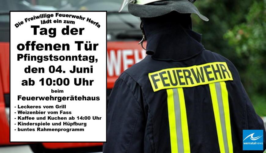 Tag der Offenen Tür Freiwilligen Feuerwehr in Herfa am Pfingstsonntag