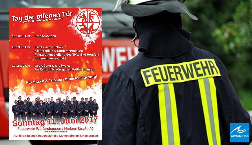 Tag der Offenen Tür der Freiwilligen Feuerwehr in Wölfershausen am 11. Juni