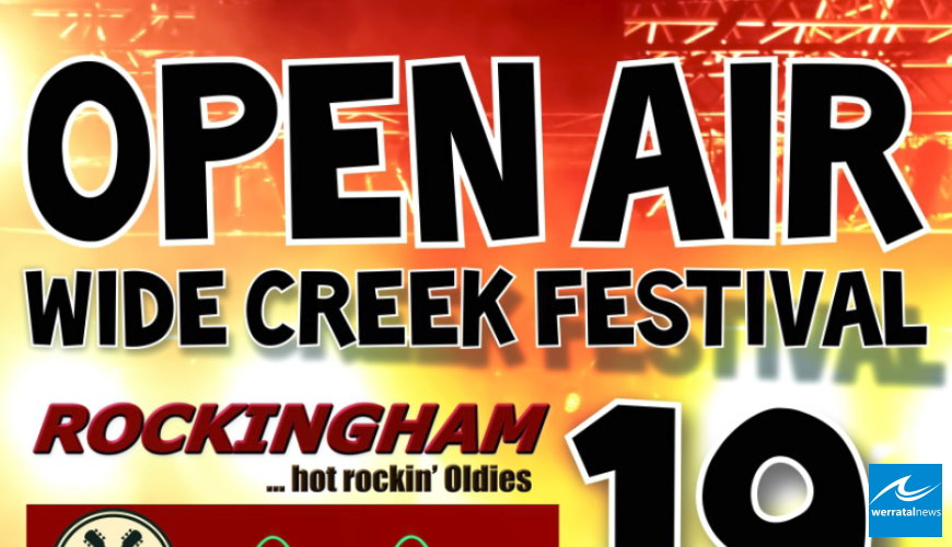 Wide Creek Festival in Ronshausen am 19. August - Rock am BadePark