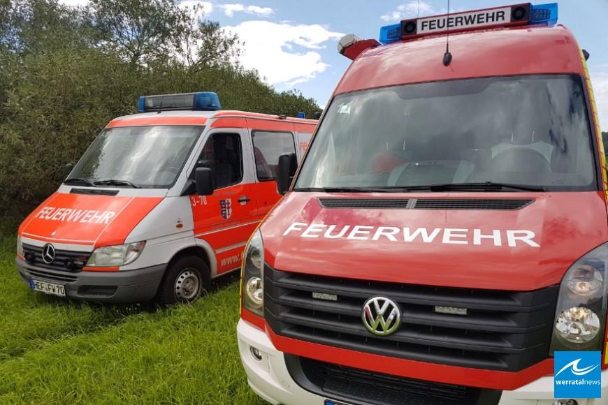 Unbekannte Flüssigkeit auf Werra beschäftigt Feuerwehren