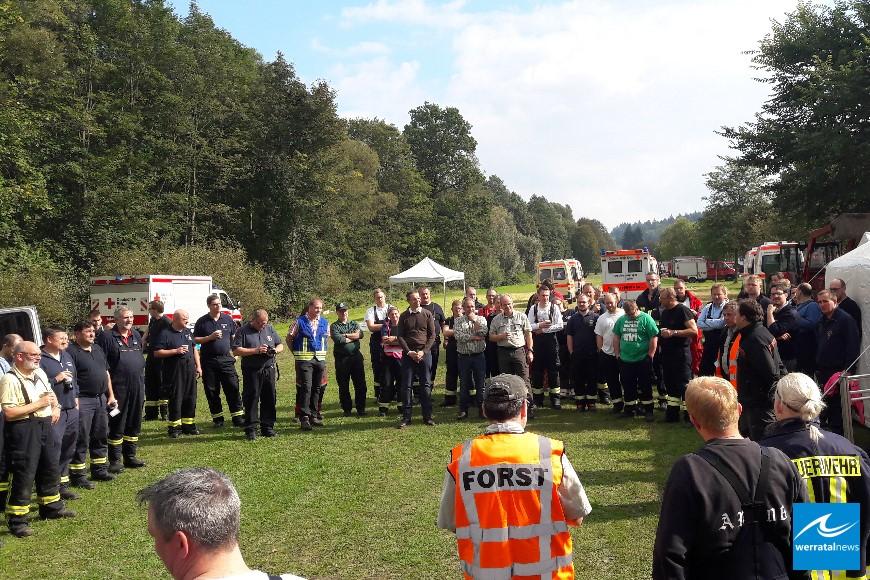 300 Helfer übten den Kampf gegen Waldbrände