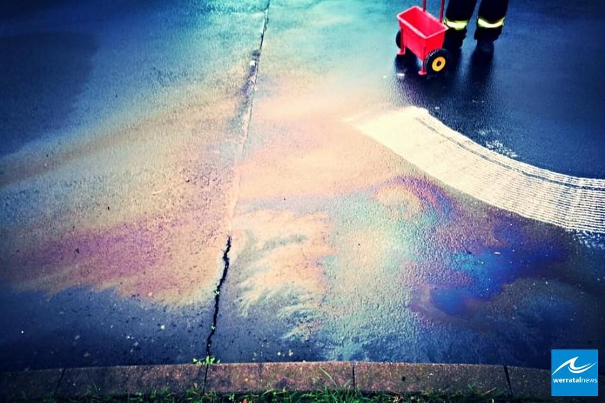 Ölspur quer durch Heringer Stadtgebiet