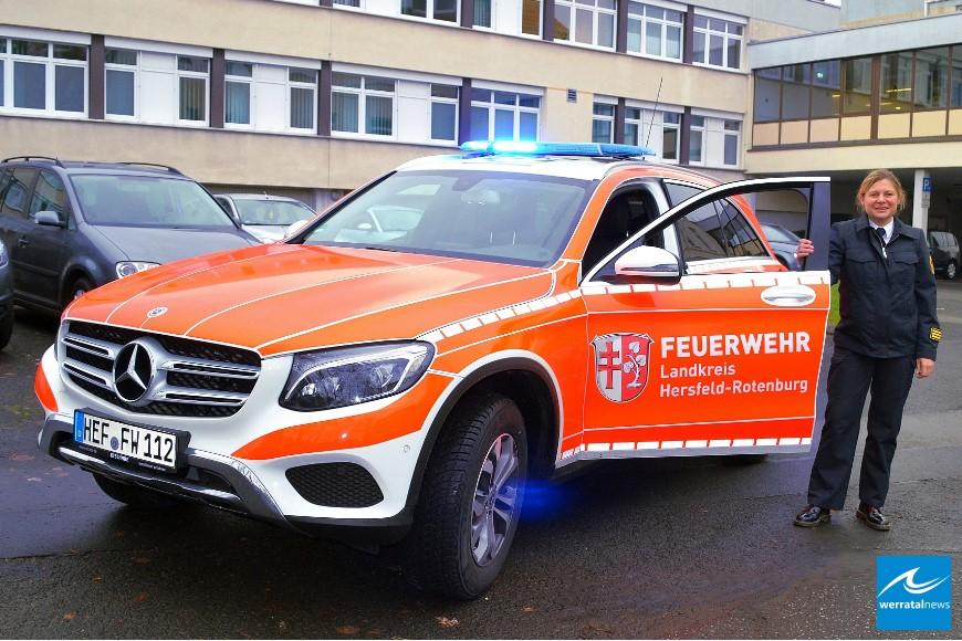 Schnell da, wenn es brennt - Neuer Kommandowagen für Kreisbrandinspektorin