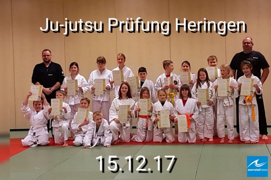 Heringer Ju-Jutsu-Kindergruppe des TV03 legte Ende 2017 erfolgreiche Prüfung ab