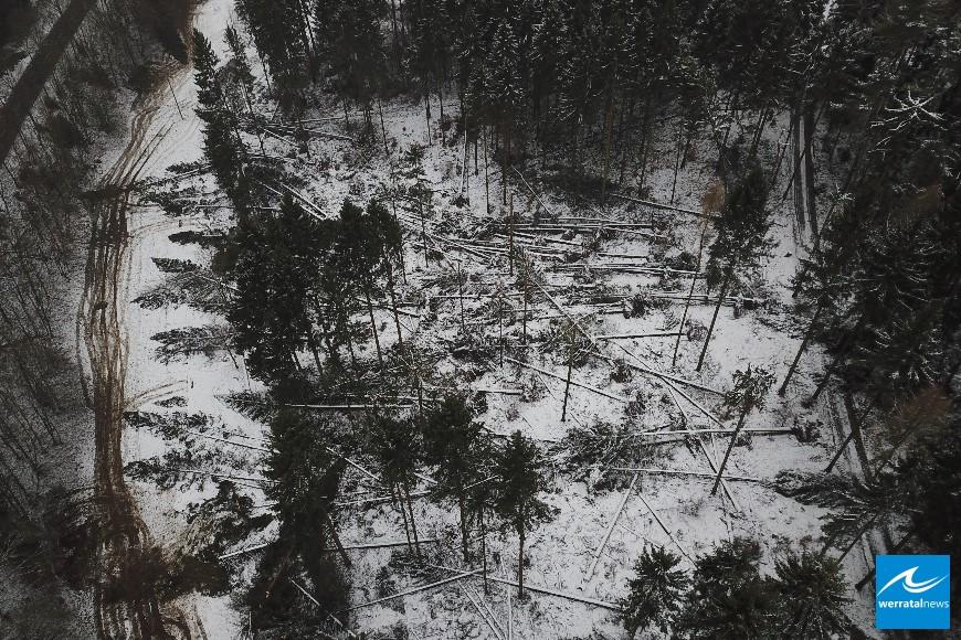 Tag 2 nach dem Orkan Friedericke auf Bodesruh