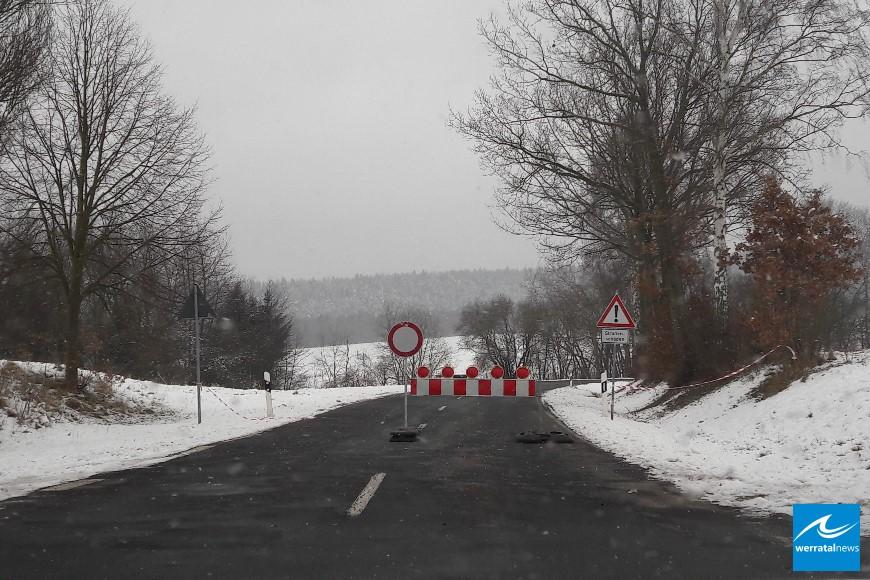 Landstraße zwischen Bodesruh und Kleinensee gesperrt