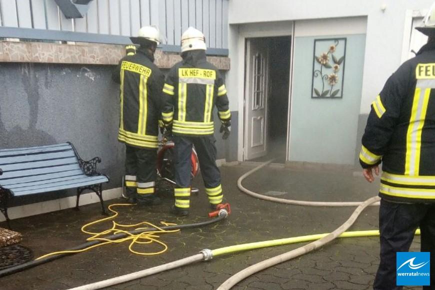 Garagenbrand in Kleinensee