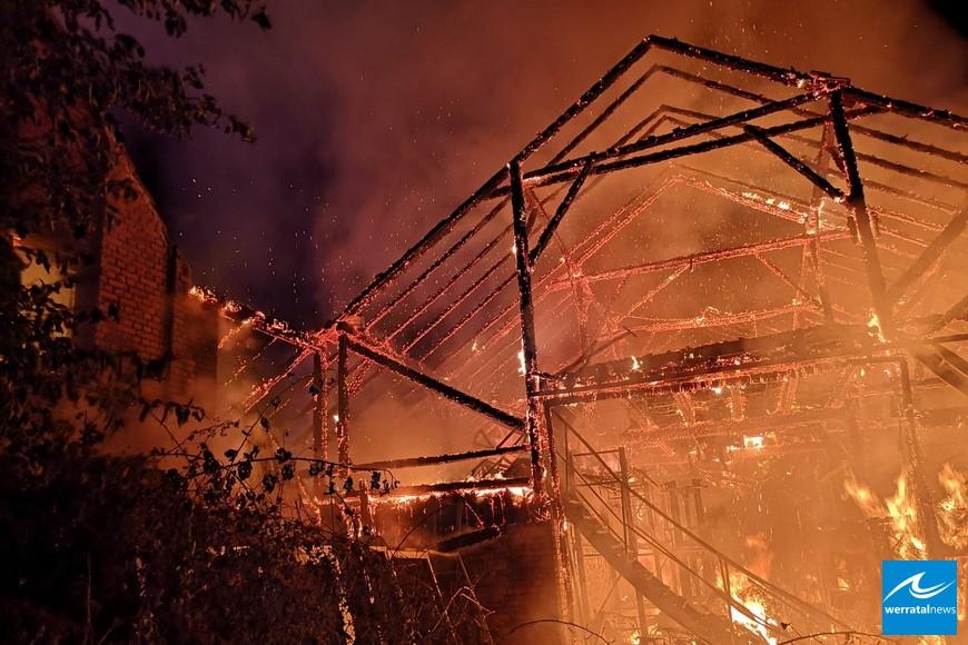 Großbrand in Großensee