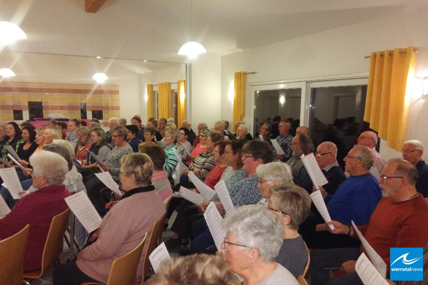 Chorprobe für Bezirkssängerfest am 26. Mai