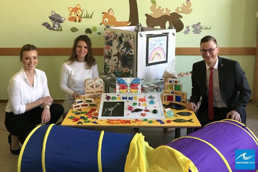 Kindergarten Pfiffikus freut sich über Spende