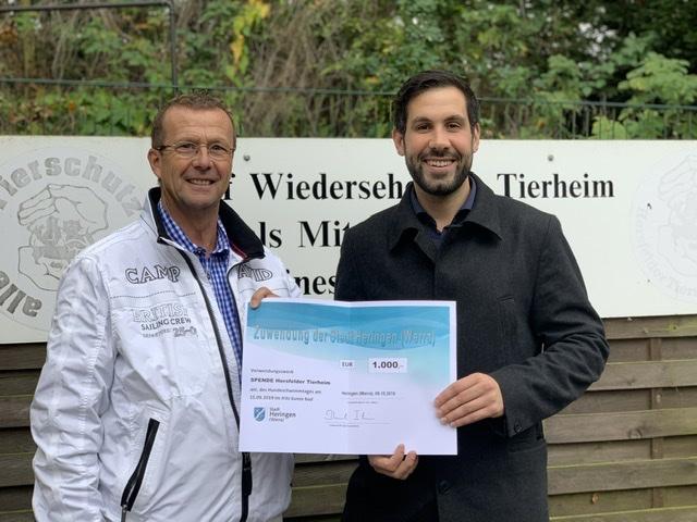 1000 Euro aus Heringen an das Tierheim