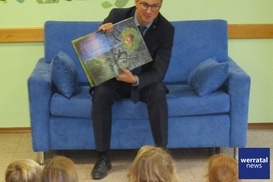 """Vorlesetag 2019 im Kindergarten """"Pfiffikus"""" in Ausbach"""
