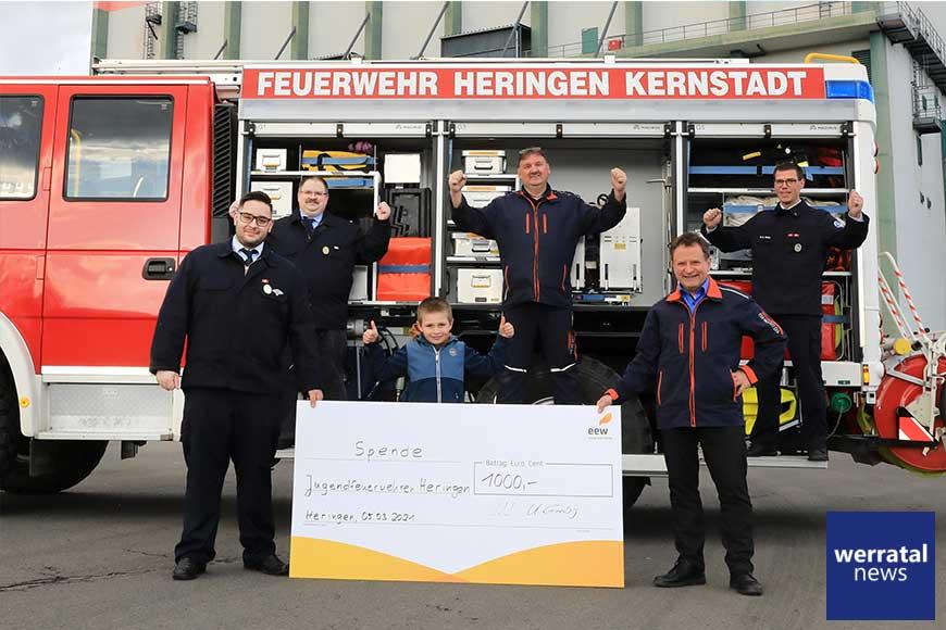 Finanzspritze für Jugendarbeit der Freiwilligen Feuerwehren Heringens