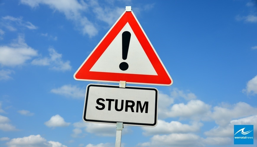 Vorabinformation: Unwetter mit Orkanböen