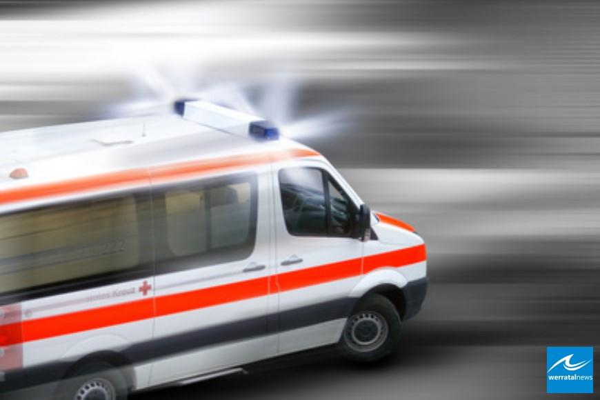 Unfall mit Personenschaden auf der Kreisstraße 12 bei Friedewald